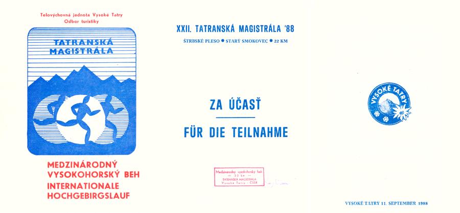 Tatranska Magistrala 1988