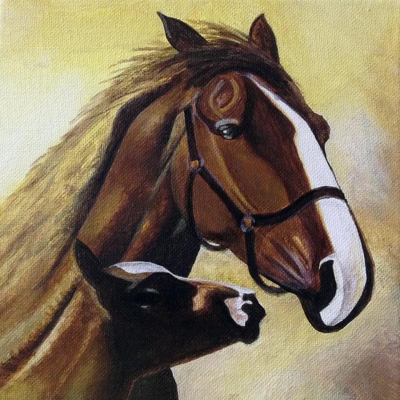 Ivan Bradňanský - maľba kone