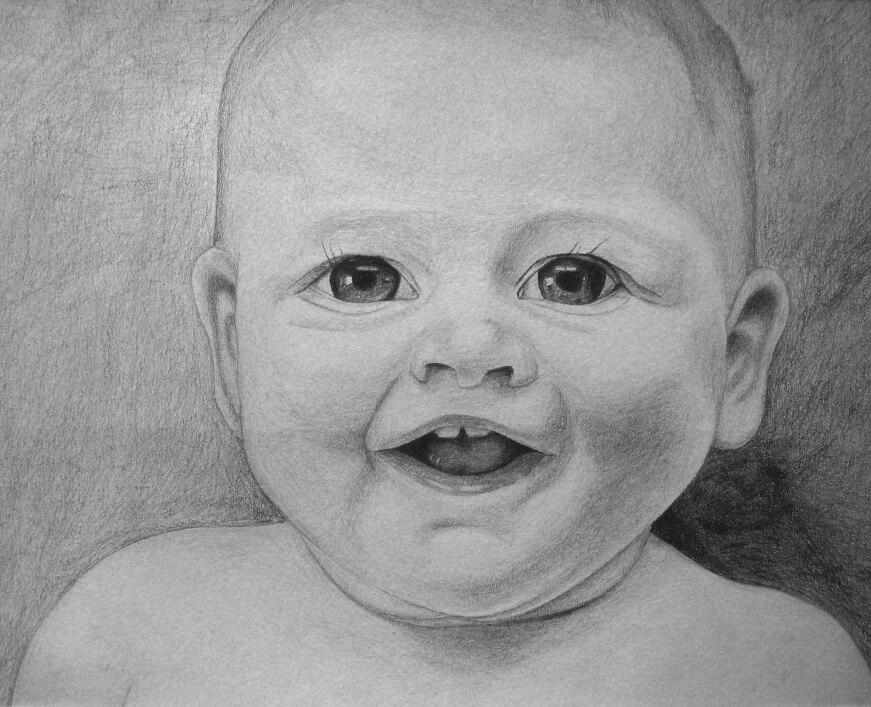 Ivan Bradňanský - maľba dieťaťa