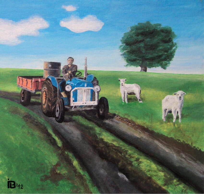 Ivan Bradňanský - maľba traktor